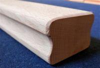Dřevěné madlo zábradlí schodišťové na zeď na schody. BUK 5,5 x 4 cm bez drážky