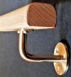 Držák konzole dřevěného madla s rovnou plochou, schodišťového zábradlí na zeď
