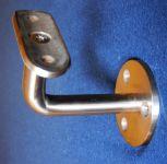 Držák konzole kulatého madla Ø 42mm, schodišťového zábradlí na zeď, nerez